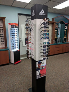 Display of adidas sunglasses
