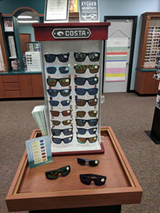 Dsiplay of Costa sunglasses