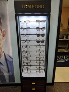 Display of Tom Ford glasses